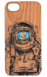 ASTRONAUT GOLDFISH UV COLOR PRINTED