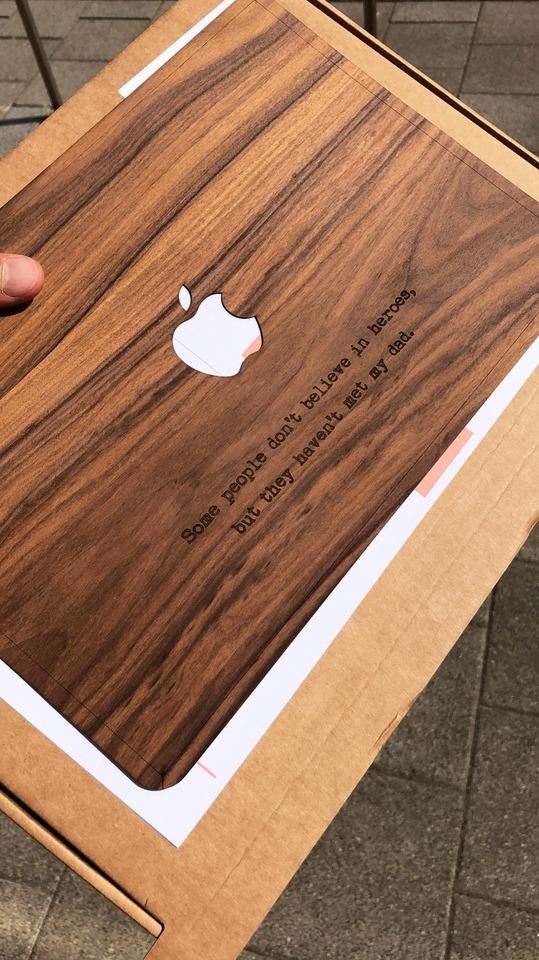 macbook cover met gravure