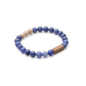 Stone Bracelet – Unisex – Sole – Beechwood & Blue Dumortierite