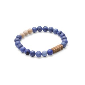 Stenen Armband – Unisex – Sole – Beukenhout & Blauwe Dumortieriet 1