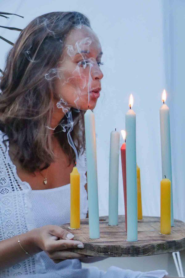 kaarsenplank voor dineerkaarsen
