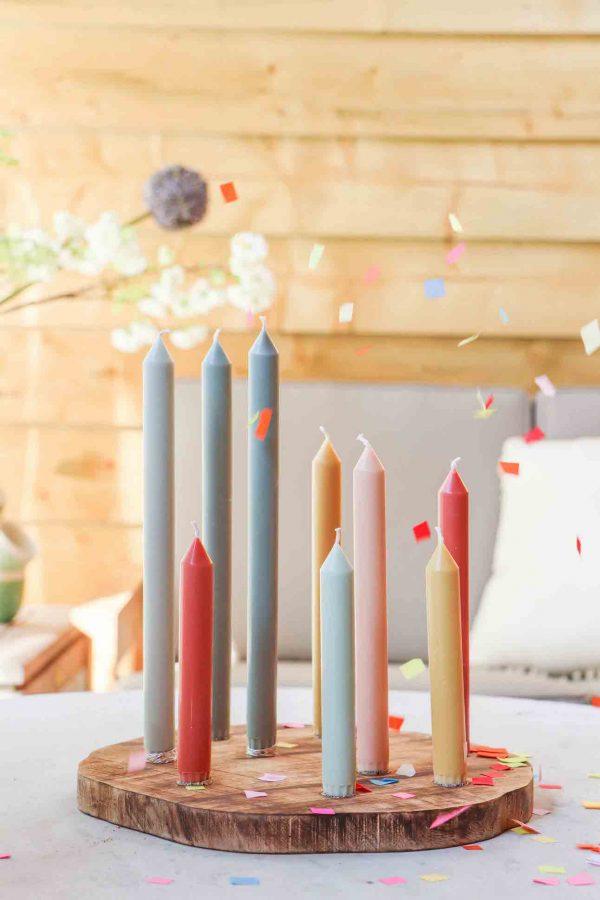 kaarsenplank voor dineer kaarsen