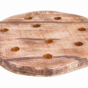 kaarsenplank voor dineer kaarsen - houseofbamboo