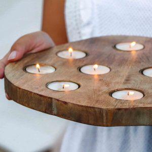 kaarsenplank voor waxinelichtjes
