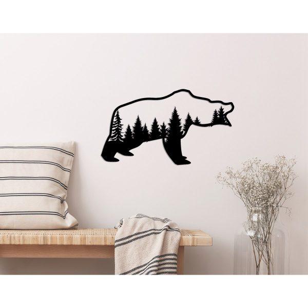 geometrische beer in de natuur