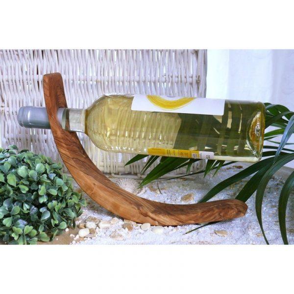 Olijfhouten Flessenhouder