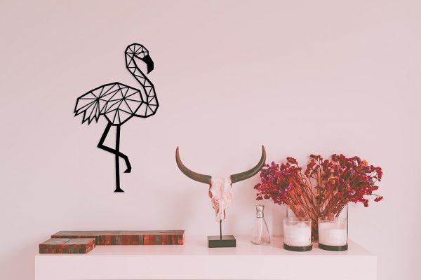 muurdecoratie-flamingo