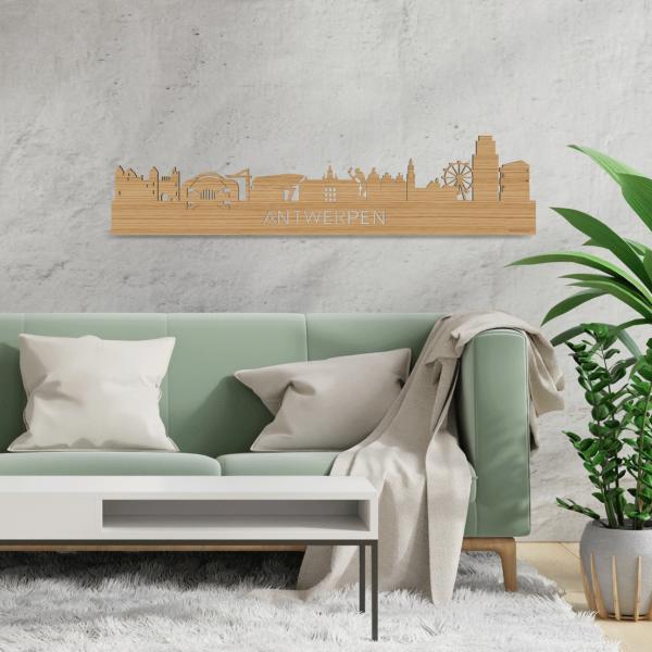 Skyline-Antwerpen-Bamboe-hout-decoratie-cadeau-relatiegeschenk-2