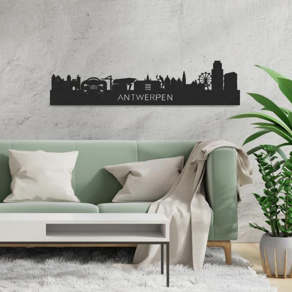 Skyline-Antwerpen-Black-houtdecoratie-cadeau-relatiegeschenk